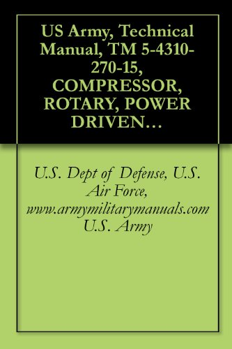 US Army, Technical Manual, TM 5-4310-270-15, COMPRESSOR, ROTARY, POWER DRIVEN, AIR, TWO IMPELLER, WHEELBARROW FRAME MOUNTED, TWO PNEUMATIC TIRES, GASOL ... 2MSWB), military manauals, special forces