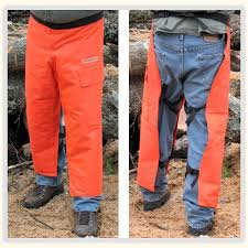 Chain Saw Safety Chaps 36'' Leg Plus Deluxe Safety Helmet