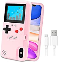 Game Console Case for iPhone,LucBuy Retro Protective Cover Self-Powered Case with 36 Small Game,Full Color...