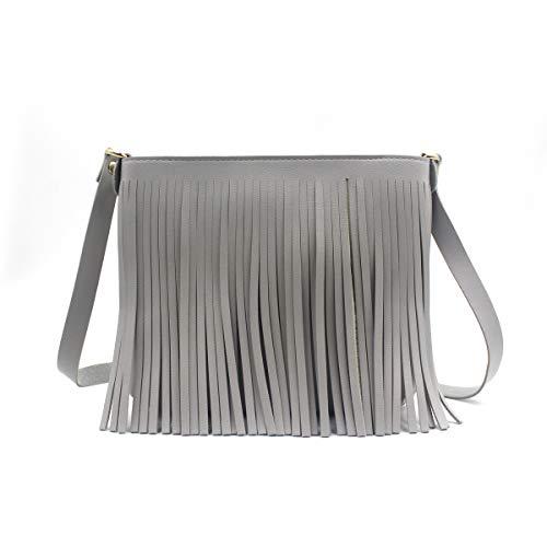Women Fringe Tassel Crossbody Bag Casual Small Shoulder Bag Messenger Handbag