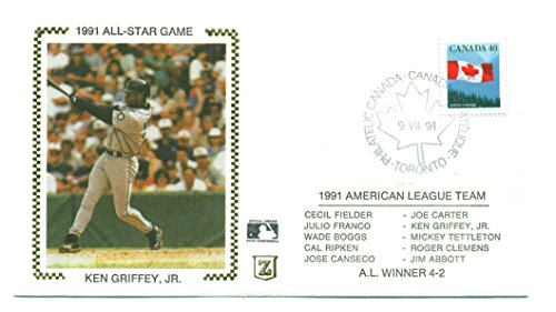 1991 Ken Griffey Jr. All-Star Game Cachet 7-9-91 Canadian -Rare 1991 All Star Game