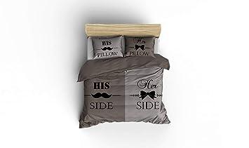 Nightlife Bettwäsche Bettbezüge Mustache Taupe 240x200220