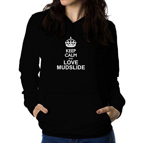 紫の倍率リークKeep calm and love Mudslide 女性 フーディー