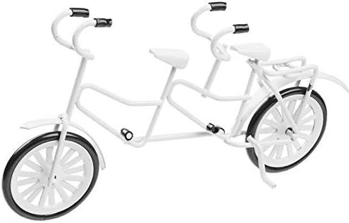 HBF Tandem - Bicicleta en Miniatura (12 cm), Color Blanco: Amazon ...