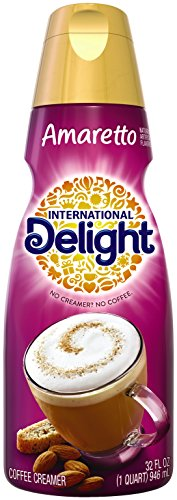 Amaretto Creamer - International Delight Amaretto Coffee Creamer Quart, 32 Ounce