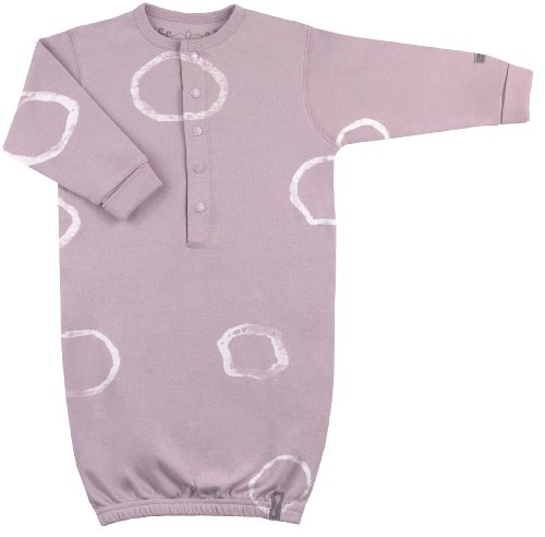 Kushies Unisex-baby Newborn Funky Baby Gown, Rose, 3-6 Months