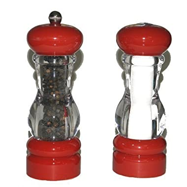 Olde Thompson Del Norte Red Pepper Mill & Salt Shaker Set