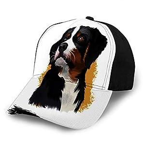 Adjustable Snapback Baseball Cap Appenzeller Sennenhund Dog Digital Art White Me 3