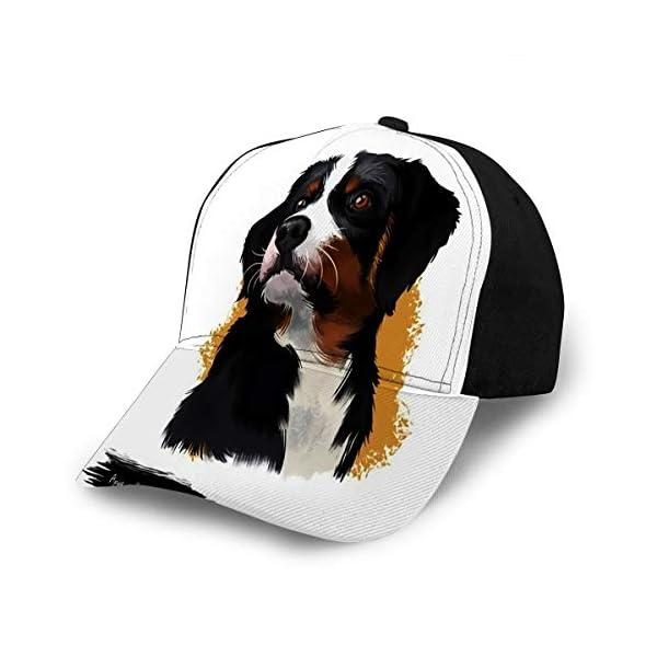 Adjustable Snapback Baseball Cap Appenzeller Sennenhund Dog Digital Art White Me 1
