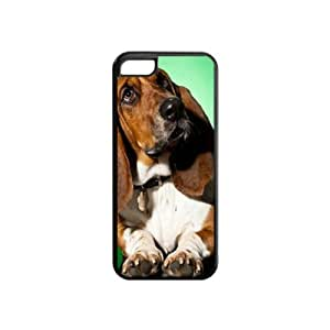 Custom BASSET HOUND DOG COVER CASE FOR IPHONE 5C