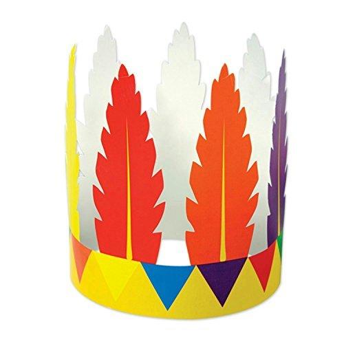 Beistle 90737 Printed Indian Feather Headband
