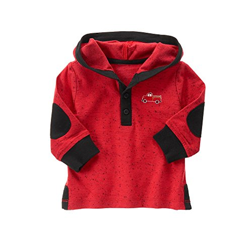 Gymboree Baby Boys' Red Firetruck Hooded Sweater, Zone, 12-18 (Gymboree Boys Sweater)