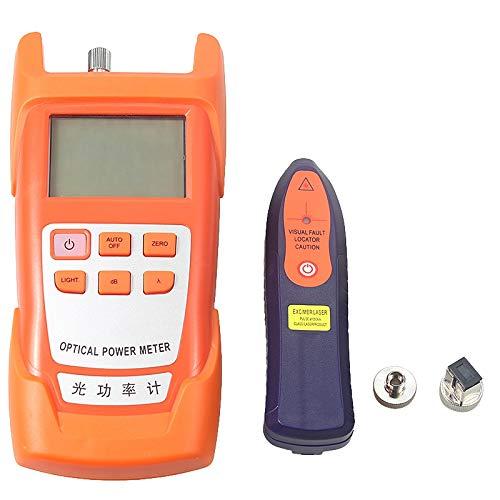 TOOGOO Kit DOutils FTTH /à Fibre Optique avec Couperet de Fibre et Pince de Jaugeage Optique D/éTecteur de Fil de D/éTecteur de D/éFaut Visuel de 5 Km