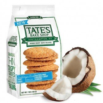Tate's Bake Shop 6 Pack Gluten Free Coconut Crisp Cookies by Tate's Bake Shop