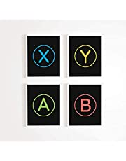 Game Room Decor – Xbox / Playstation Gaming Posters - Set of (4) - Gamer Decor - Video game posters 11 x 17 Size (Xbox)