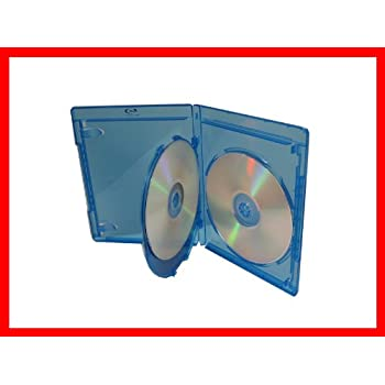 12.5mm Viva Elite Hold 3 Discs Blu-ray Replacement Case 5 Pack (3 Tray)