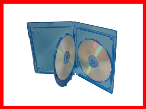 12.5mm Viva Elite Hold 3 Discs Blu-ray Replacement Case 5 Pack (3 Tray) (Disk Replacement Three)