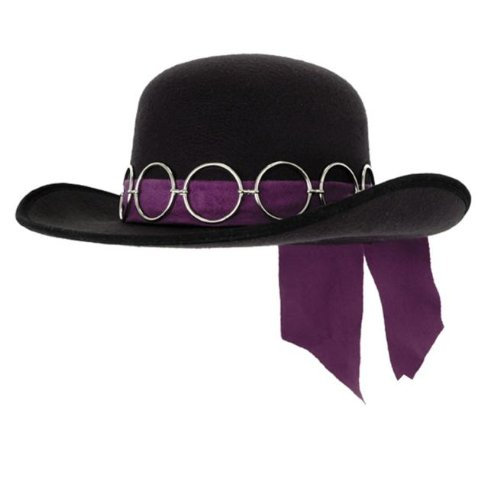 Hendrix Halloween Costume (elope Jimi Hendrix Hat, Purple, One Size)