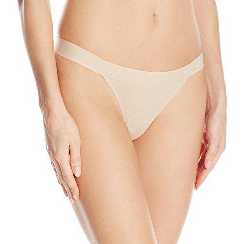 (DKNY Women's Classic Cotton Thong, Cashmere X-Large)