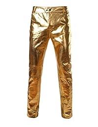 Everbeauty Men's Modern Shiny PU Leather Pants For Nigntclub/Dance