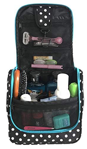 WAYFARER SUPPLY Hanging Toiletry Bag: Pack-it-flat Travel Ki