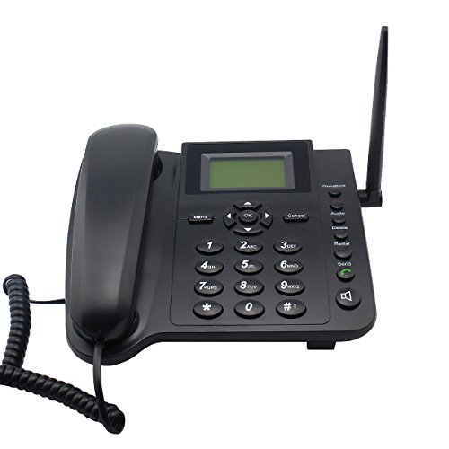 Wireless Telephone for Home/Office, Support 2G GSM Mobile Network, with SMS, Call Logs, Alarm, Phonebook, Redial Function ()