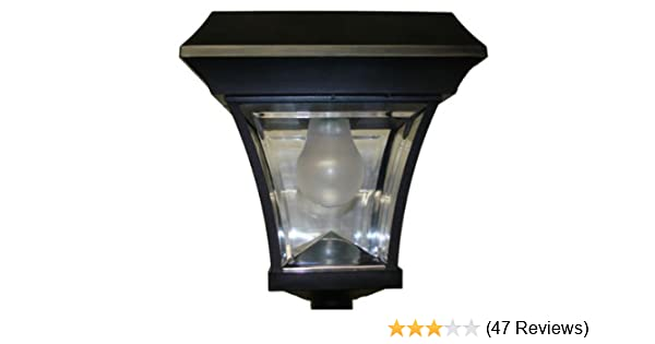 amazoncom solar lamp post light outdoor post lights garden outdoor