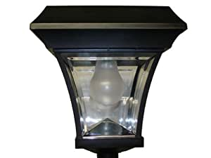 garden sun solar lamp post light patio lawn
