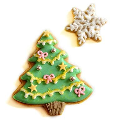 Biscuit Village Christmas Tree Biscuit Card Amazon Co Uk Grocery