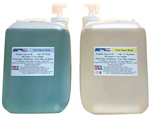Epox-It 80 Clear Epoxy Resin for Coating Wood Table Tops Bar Top Resin Art - 10 Gallon Kit by Specialty Resins (Image #6)