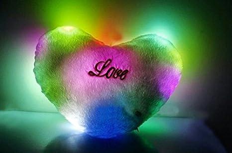 uchic 1pcs LED luz Up brilla corazón almohada 7-color LED ...