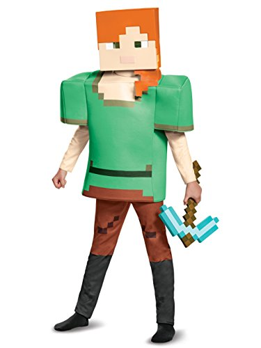 Alex Deluxe Minecraft Costume, Multicolor, Large (10-12) ()