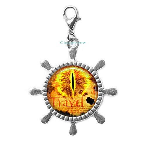 Cioaqpyirow Jewellery Rudder Zipper Pull Dragon Eye Art Lobster Clasp,Handmade Lobster Clasp Rudder Zipper -