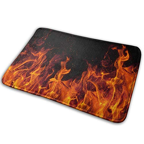 Flame Printed,Non Slip Machine-Washable Door Mat Home Decor Rug Indoor Outdoor Mats Thicken Playmat Multi-Purpose Floorcover 31.5(L) X 19.7(W) ()