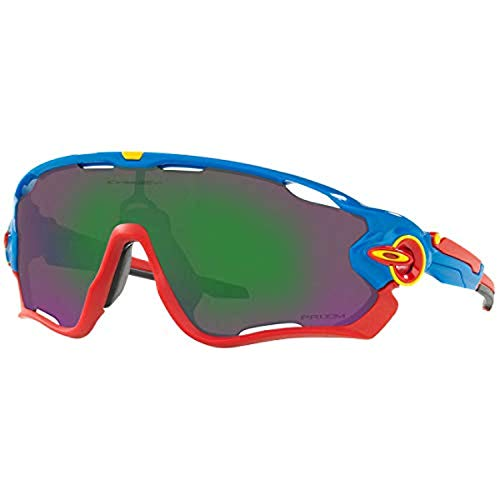 Bundle: Oakley Jawbreaker Sunglasses Snapback Blue/PRIZM Jade & Earbuds