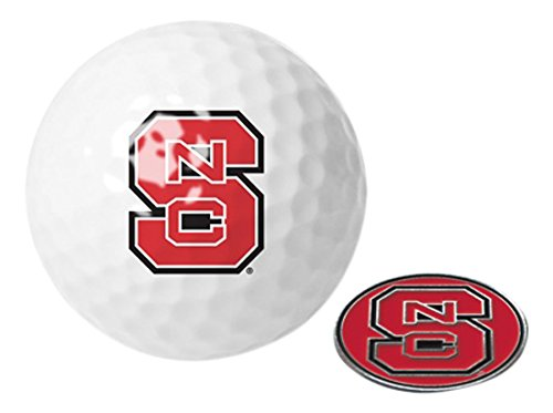 NCAA North Carolina State Wolfpack - Golf Ball One Pack with Marker