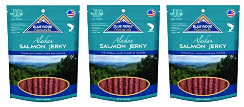 ((3 Pack) Blue Ridge Naturals Oven Baked Salmon Jerky Dog Treats, 3 Pounds Total)