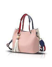 Sdinaz 2018 new women's handbag fashion hit color tassel shoulder Messenger bag retro wallet