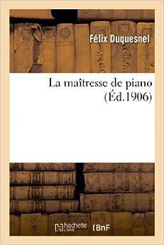 La Maitresse de Piano (Litterature)