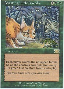 (Magic: the Gathering - Waiting in the Weeds - Sixth Edition)