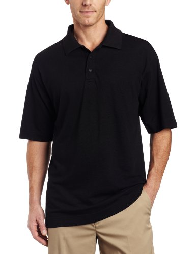 Cutter & Buck Men's CB Drytec Championship Polo, Black, X-Large