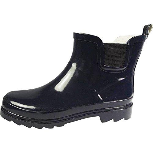 NORTY Damen Knöchel Regen Stiefel - für Damen - Regenstiefel wasserdicht für Winter Frühling und Garten - warm und bequem - Sohlen mit Grip - gut gebaut Marine