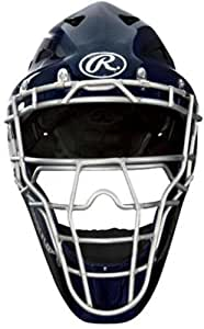 Rawlings Coolflo Highlight Adult Pro Series Catchers Helmet (Navy)