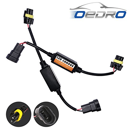 hb4 9012 LED Conversion Kit Headlight Canbus Error Free Anti Flickering Resistor Decoder Computer Warning Canceller Capacitor Harness Relay Resistor Adapter Plug & Play (Led Capacitor)