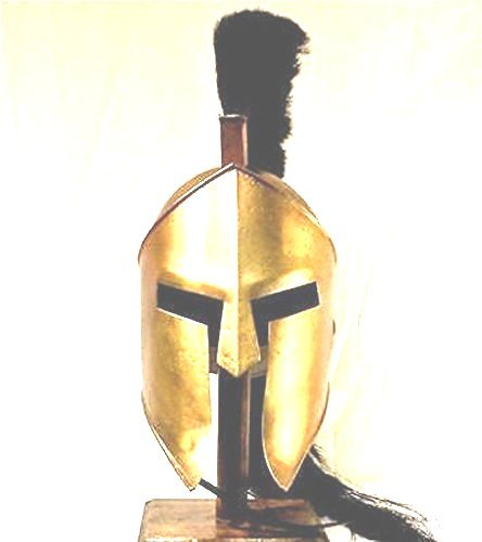 King Spartan 300 Movie Helmet + Liner & Stand For Re-Enactment,Larp,Role Play -
