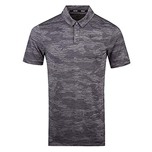 NIKE Zonal Cooling Camo Golf Polo 2018 Gunsmoke/Black Large