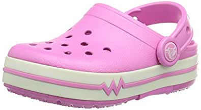 Crocs Crocslights Kids Clog - Party Pink/White - Size J2