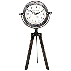 Ashton Sutton GT1041 Metal Table Clock on Tripod