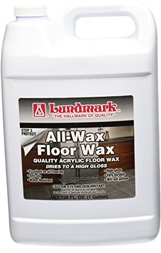 Wax Floor Vinyl - Lundmark All Wax, Self Polishing Floor Wax, 1-Gallon, 3201G01-2