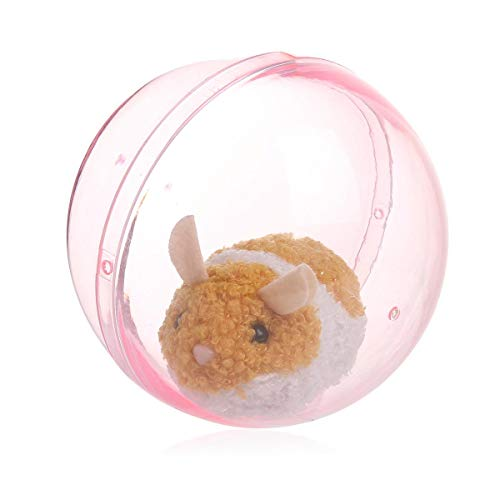 (Hamster Ball Rolling in The Running Ball, Kid's Electronic Pet Toy, Happy Fun Plush Interactive Sliding Hamster Grabbing Doll Baby Animal Toy)